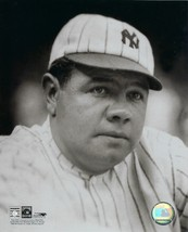 Babe Ruth 8X10 Photo New York Yankees Baseball Close Up Cooperstown Collection - $4.94