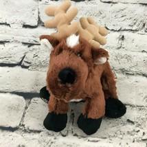 Webkinz Ganz Reindeer Plush Brown Sits Up Lays Flat Stuffed Animal Soft Toy - $7.91