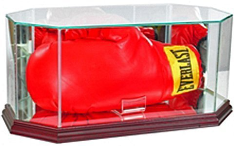 Perfect Cases UFC Octagon Full Size Boxing Glove Glass Display Case, Cherry