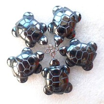 (5 pieces/lot)  Wholesale Natural Carved Hematite Tortoise Pendant Bead ... - $18.07