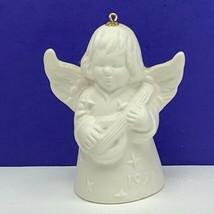 Goebel birthday angel ornament Christmas bell figurine hummel 1977 mando... - $29.65