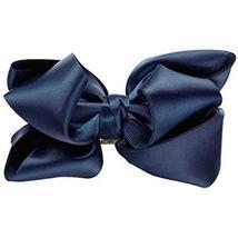 Bowknot Hair Pins Silks And Satins Hairpins Pinch Cock Hair Clips(Navy Blue) image 1