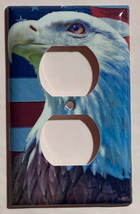 Patriot Bald Eagle US Flag Light Switch Power Outlet Wall Cover Plate Home Decor image 2
