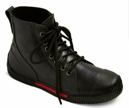 Art Class Boys' Black High Top Waterproof Niam Rubber Rain Sneaker Boots NWT