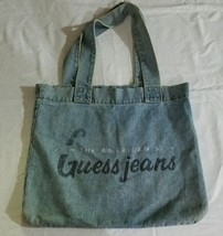 Vintage Guess Products By Georges Marciano Denim Jean Tote Shoulder Book... - $44.55