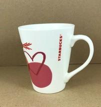 STARBUCKS 2016 Red/White 12 Oz HEARTS  COFFEE CUP Mug - $7.80
