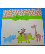 Deluxe Baby Brag Book Photo Album 40 pages Zoo Animals by Carter's - $13.95