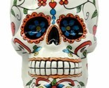 White Tribal Day of The Dead Crucifix Sugar Skull Drink Coffee Mug Cup Ceramic