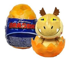 """How To Train Your Dragon The Hidden World Sparkly Baby Gronkle 3"""" Plush in Egg  - $15.88"""