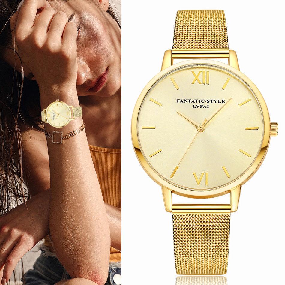 Lvpai® Women Watch Luxury Gold Bracelet Sport Dress Quartz Ladies Business Wrist