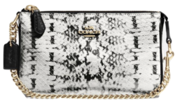 Coach $145 Nolita Wristlet 19 Exotic Embossed Leather Color Block Top Ha... - $69.99