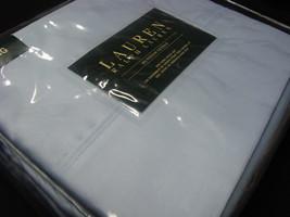 New Ralph Lauren Sheet Set King 4 P 100% Cotton DUNHAM SATEEN SKY BLUE - $137.99