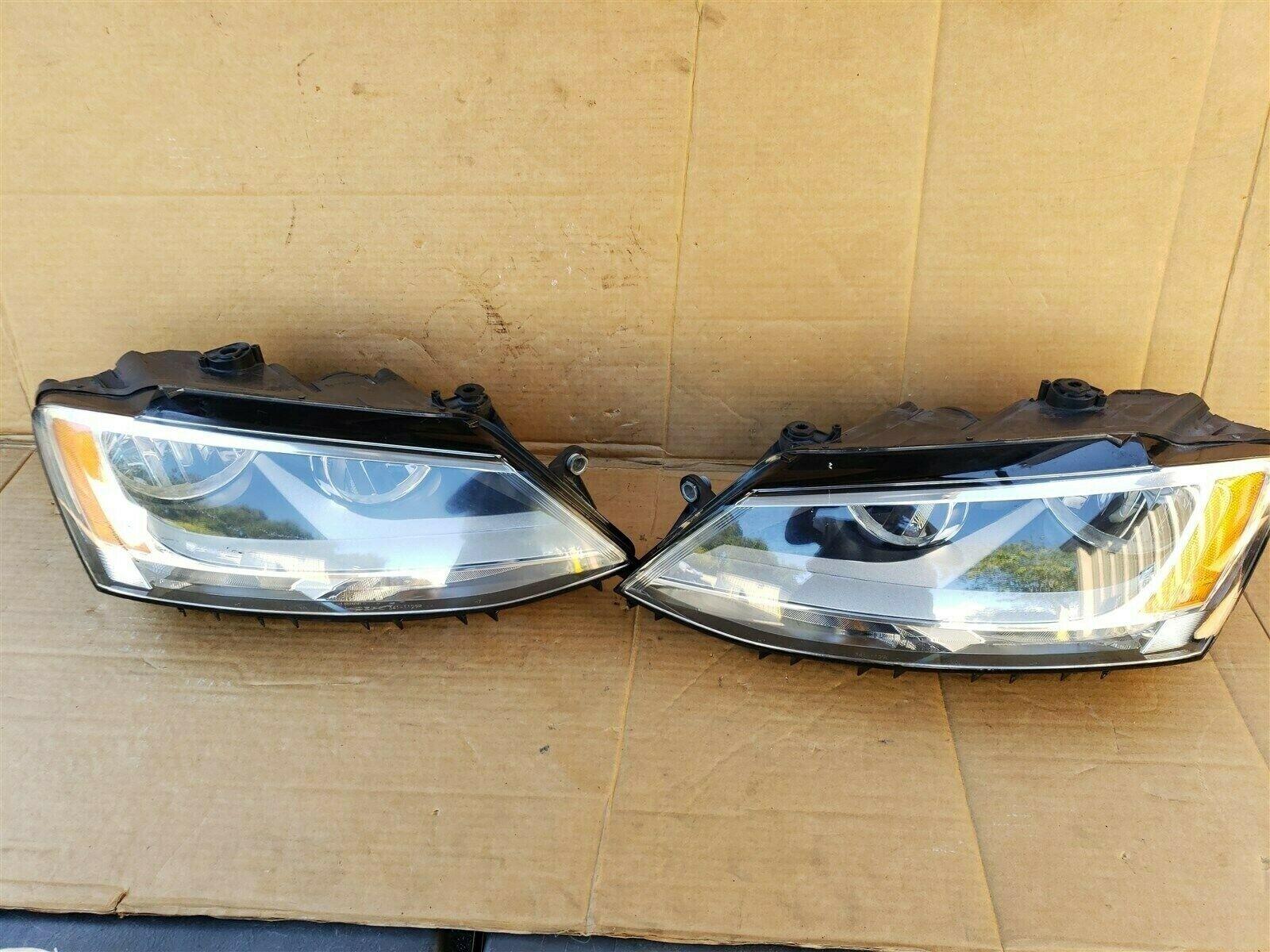 2011-18 Volkswgen Jetta Halogen Headlight Head lights Lamps Set L&R