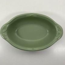 "Pfaltzgraff Winterwood 11"" Oval Vegetable Serving Dish Bowl Green Bird Holly - $27.69"