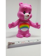 Burger King Cheer Bear Care Bear ( Pink With Rainbow) pre-owned cake topper - $8.59