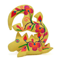 Hand Embroidered Dragon Soft Sculpture Pin Cushion - $2.99