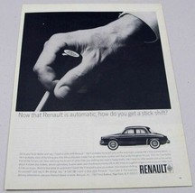 1963 Print Ad Renault Dauphine Economy Sedan with Automatic Stick Shift - $10.87