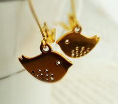 Gold Skylark Bird Earrings Gold Bird Earrings Gold Sparrow Earrings - $23.00