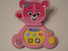 Vtech Bear's Baby Laptop in Pink Ages 6-36 Months - Sounds, shapes, Numbers ETC - $12.99