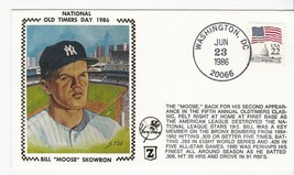 MOOSE SKOWRON OLD TIMERS DAY NY YANKEES BRONX NY JUNE 23 1986 Z SILK COVER - $2.98
