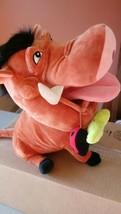 "Disney Parks Original Stuffed Pumba Plush 15"" Warthog w/ladybug and worm - $14.90"