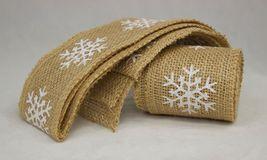 """Snowflake Burlap Ribbon, White Print, 2"""" by 10', by Country House - $537,63 MXN"""