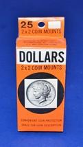 NEW Box of 25 2x2 Whitman Cardboard Coin Mounts Western Publishing Dolla... - $6.99