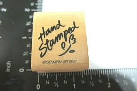 Hand Stamped Rubber Stamp Stampin Up 1997 Stamping Hobby Handmade Flower - $3.50