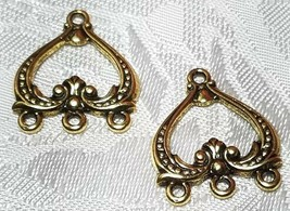 SCROLL PATTERN ONE TO THREE HOLE FINE PEWTER EARRING PARTS 18x22x2mm