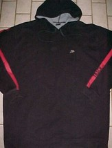 Nike Swoosh Track Adult Unisex 90s Black Red T5003 Pullover Hoodie XL - $44.50