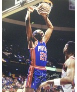 John Salley signed Detroit Pistons 8x10 Photo (blue jersey) - $17.95