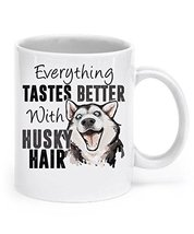 Dog Lover Mug - Everything Tastes Better With Husky Hair - 11oz Ceramic ... - £11.90 GBP