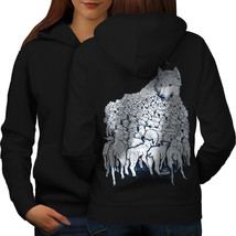 Wolf Sheep Herd Animal Sweatshirt Hoody Sheep Flock Women Hoodie Back - $21.99+