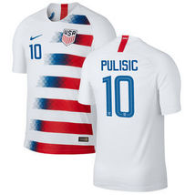 Christian Pulisic #10   Usa Men's New 2018 Usmnt Home Soccer Jersey   White by Unbranded