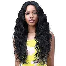 """Body Wave 13x6 Lace Front Wigs for Black Women 26"""" Long Hair Deep Parting Synthe"""