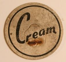 Vintage Milk Bottle Cap Cream Black and White - $4.94