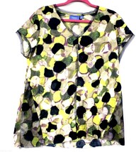 Simply Vera Wang Knit Tunic Top XL Multicolor Yellow Purple Blue  NWOT C... - $27.72