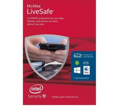 MCAFEE LIVESAFE - ULTIMATE PROTECTION -  FOR UN... - $17.96
