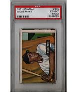 1951 Bowman Willie Mays Rookie #305 PSA 6 (MC) P510 - $3,859.59