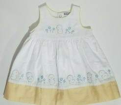 Carters Infant Dress Size 6 Months Chicks Flowers Gingham White Yellow L... - $14.54
