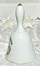 "Vintage Souvenir Ceramic Bell South Dakota Gold Tip Porcelain Bell  4"" Tall image 5"