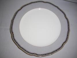 """mikasa Deville Gray chop plate cap29 round platter Gold trim Japan 12 """" D - $13.10"""