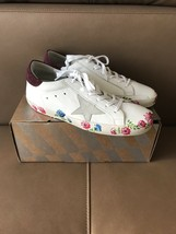 Golden Goose $565 White Leather Star Sneakers in size 40--9.5--10 US.!! ... - $361.35