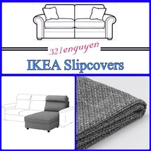 IKEA LIDHULT Slipcover Cover for Chaise section, Lejde gray/black 904.058.50 - $118.88