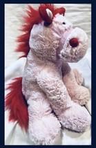 Pink Red Heart Horse Stallion Valentine Gift Plush Doll Animal Cuddly So... - $22.37