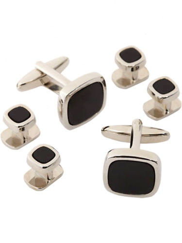 925 Sterling Silver Black Onyx Gemstone Artistic Design Handcrafted Men's Cuffli image 1