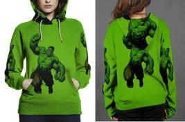hulk full green image Hoodie Women's - $44.99+
