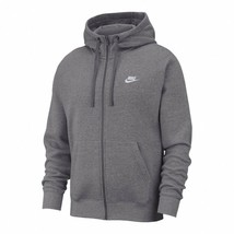 Nike Men's Sportswear Club Fleece F-Zip Hoodie NEW AUTHENTIC Charcoal BV... - $59.99