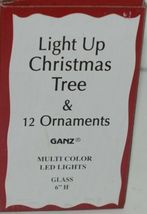 Ganz EX20536 Light Up Christmas Tree 12 Ornaments 6 Inches Glass image 10