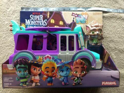 Netflix Playschool Super Monsters GrrBus Monster Bus Toy Lights Sounds & Music  image 8